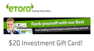 Etoro $20 Gift Card - Social Investment Network