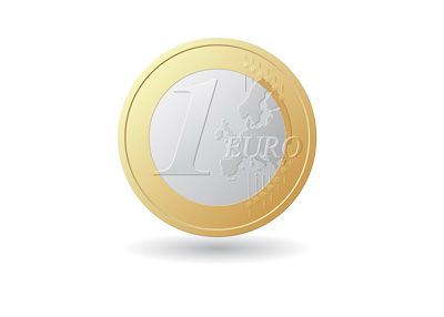 One Euro Coin - Illustration