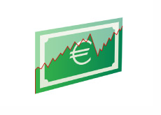 Euro Currency Graph - Illustration