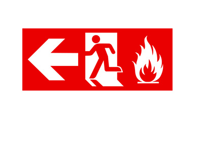 Exit sign - Red colour