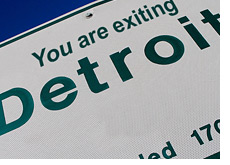 -- Street sign - Exiting Detroit --