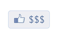Facebook Like Button with Dollar Signs