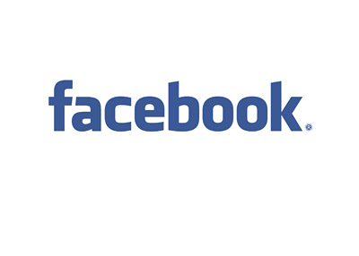 Facebook Logo - Blue on White - 400 pixels wide