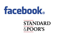 Facebook and Standard & Poor - Logos