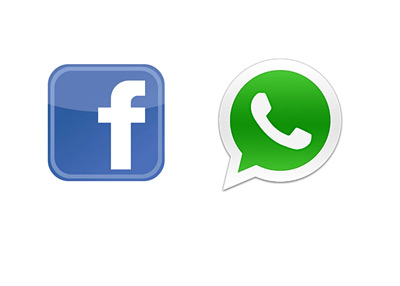 Facebook and Whatsapp logos