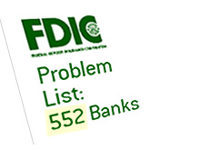 -- fdic - federal deposit insurance corp. - bank problem list - 552 --