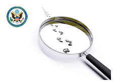 -- feds investigation - sec - magnifying mirror - following footsteps --
