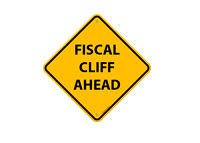 Fiscal Cliff Ahead - Traffic Hazard Sign