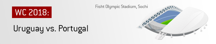 Fisht Stadium in Sochi - Uruguay vs. Portugal - Round of 16 match - 2018 World Cup Russia - Who is the favourite to win?