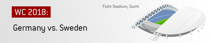 The Fisht Stadium in Sochi, Russia will be the battle ground for an important match between 2014 World Cup winners Germany and Sweden.  Betting odds and preview offered.
