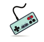 Old School Video Game Console Controller - Illustration