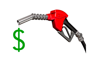 Gas Cost - Illustration - Composite - Concept - Price at the Pump - Dollar Sign