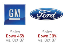 company logos gm - general motors and ford