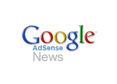 logo google adsense - with word news attached to it