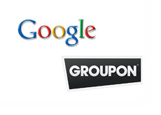 Google and Groupon Logos