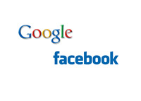 Google and Facebook company logos