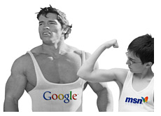 google dominates the search market - msn losing the battle - yahoo sucks