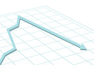 Graph going up and then down - Illustration
