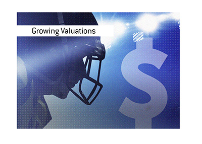 The valuations of National Football League teams is growing at a rapid pace.