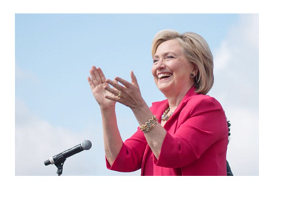 Hillary Clinton is the favourite to win the upcoming elections in the United States of America - Year 2016 - Instagram photo of Hillary clapping