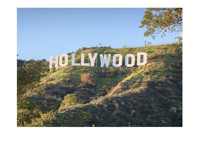 Hollywood sign.  Los Angeles.  Sunny day.