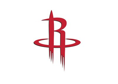 Houston Rockets logo - Red colour - Isolated on white - The year is 2017.