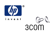 -- company logos - hewlett packard and 3com --