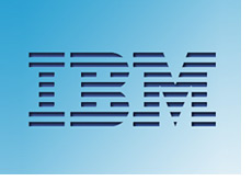 ibm company logo - blue background