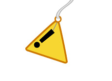 -- Warning sign bell - drawing --