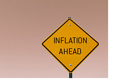 -- inflation ahead road sign --