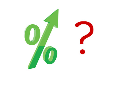 Are interest rates about to rise? - Question - Illustration / Concept