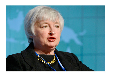 Janet Yellen - Photo taken on January 2015 - Federal Reserve - Press Conference