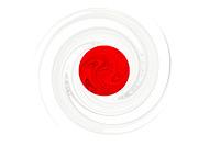 Japan Flag - Swirl