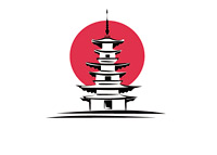Pagoda - Japan - Illustration