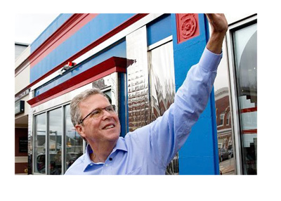 Jeb Bush waving goodbye - Twitter profile photo