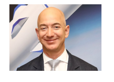 Jeff Bezos - Twitter photo - Background image is the rocket.