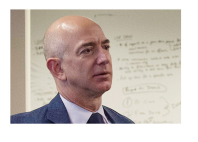 Amazon.com CEO Jeff Bezos at the Defense Digital Service in 2016