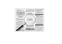 Jobs, Newspaper Classifieds - Illustration
