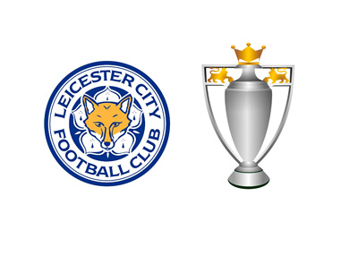 Leicester City FC - Barclays English Premier League champions - 2015/16 season - Logo and trophy