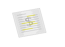 -- Illustration of a letter with highlighted text --