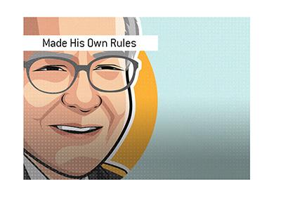 Warren Buffett made his own rules - Illustration.