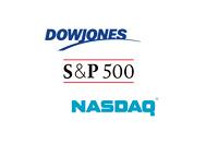 Major Market Logos - Nasdaq, Dow Jones and S+P 500