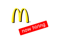 Mcdonalds logo - Now hiring
