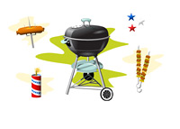 Memorial Day BBQ - Illustration