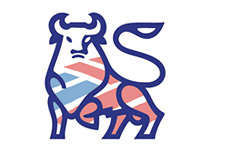 graphic representation of bank of america buying merrill_lynch - bull logo