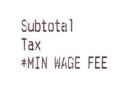 Minimum Wage Fee - Restaurant Receipt - Crop
