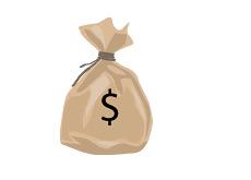 -- Money bag drawing --