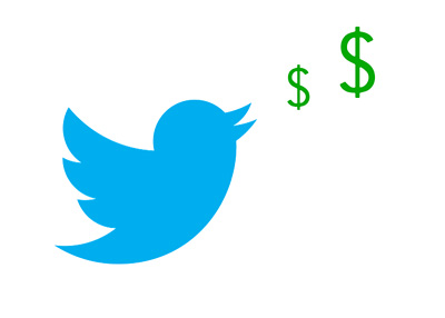 The Money Tweet - Illustration - Concept - Twitter logo with dollar signs