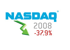 composite nasdaq logo - arrow pointing down - 2008 - 37.9 percent