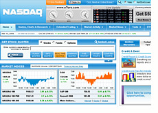 advertisements on the nasdaq.com website
